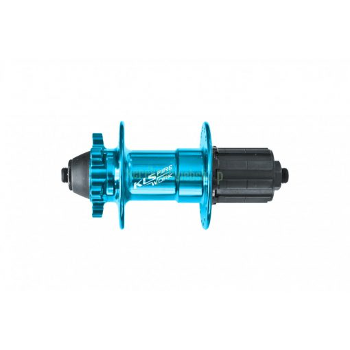 Hátsó agy KLS FIRE WORK 9x135mm 32L tárcsás eloxált kék