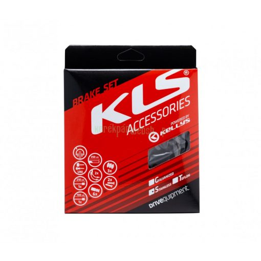 Brake set KLS stainles steel